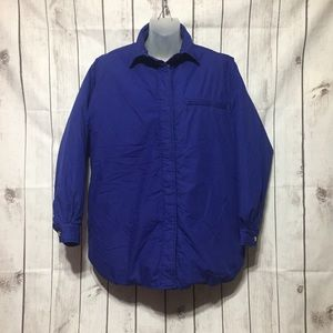 Vintage LL Bean Goose Down Jacket Womens M Blue